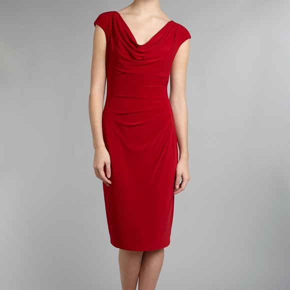 b64232f3c92b9 Ralph Lauren Cowl Neck Dress. M 5b36b080c2e9fe0bfd9770aa